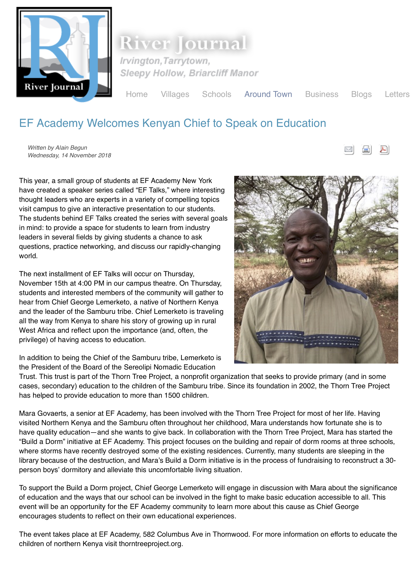 EF Academy Welcomes Kenyan Chief to Speak on Education - River Journal Online |.jpg