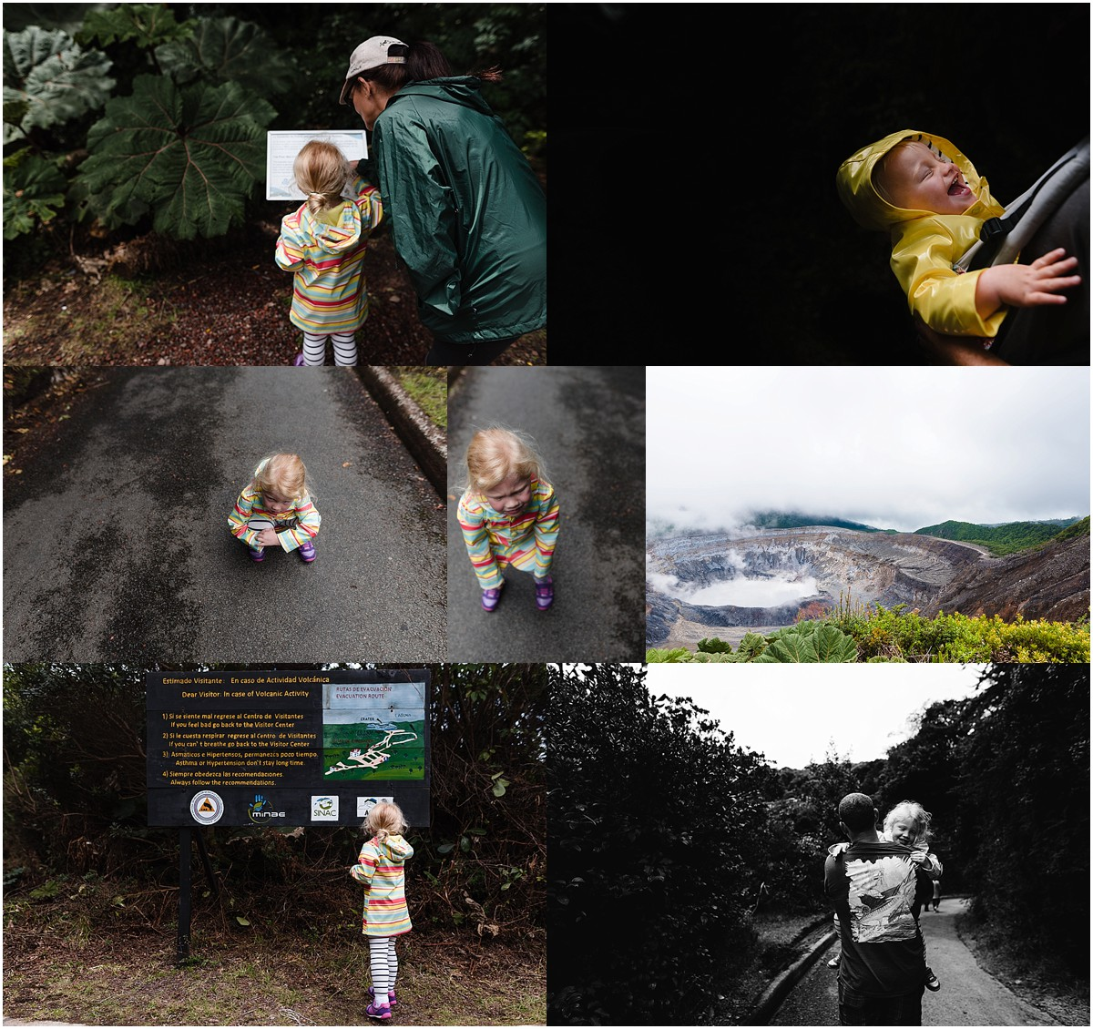 We took a day trip to Poas Volcano and had a blast. It was Grammy's first visit there.