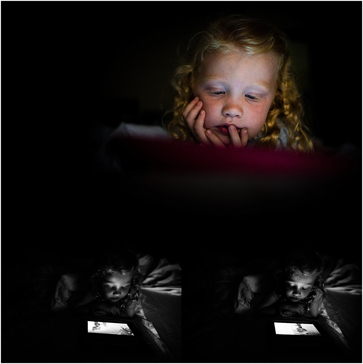 In my house, screen time has been happening a lot more frequently than it should. But when we were about to end our day and I still didn't have a decent 366 image, I went with it (and i'm glad I did).
