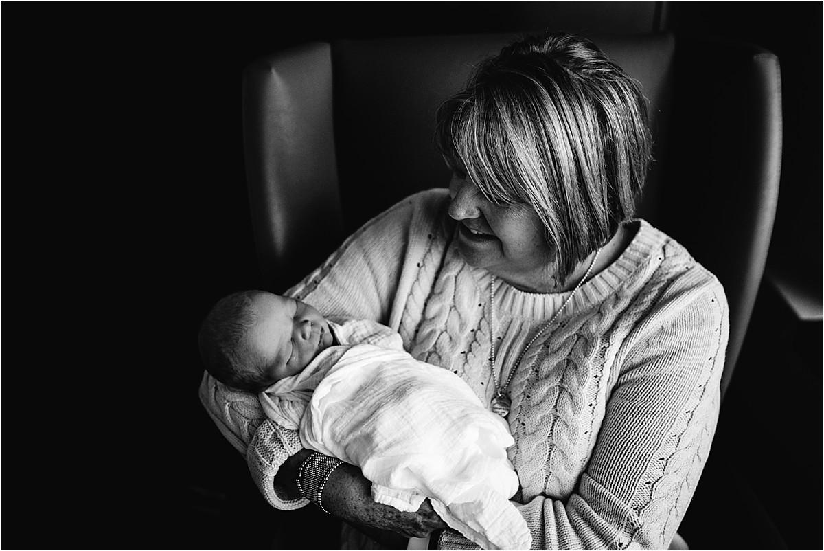 Grandma and her grandson in hospital   Orlando Newborn Photographer