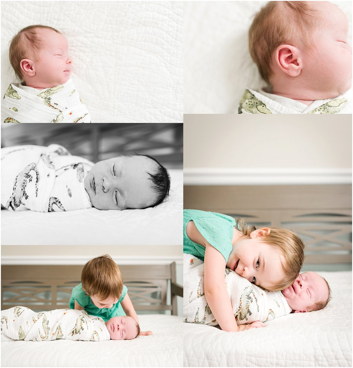 Big sister welcoming baby brother | Orlando newborn photographer