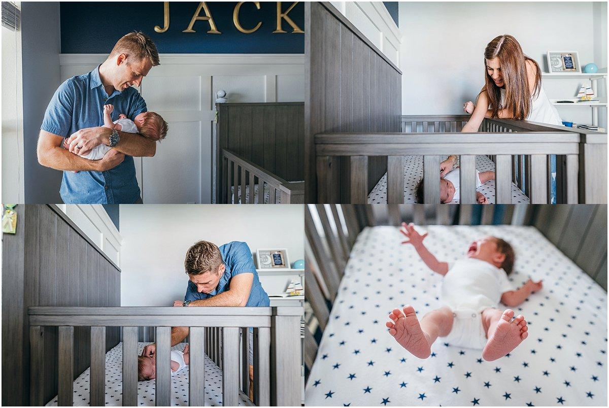 Lifestyle newborn photographer in central florida