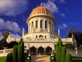 The Shrine of the Báb in Haifa, Israel stands as a symbol of reverence to the great Martyr-Prophet of the Bahá'í Faith. The Báb foretold the coming of the Promised One of all Ages, Bahá'u'lláh.