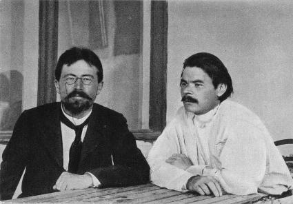 Anton Chekhov with Maxim Gorky in Yalta, Sept. 1899