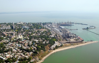 The port city of Taganrog, the birthplace of Anton Chekhov .