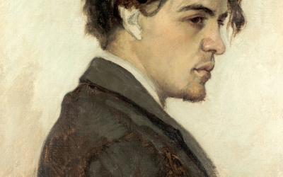 Anton Chekhov, painted by his brother Kolia, 1884