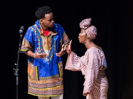 "Brian Wagura and Moriah Williams in a scene from ""Twin Lights."" Photo credit:  www.jafarfallahi.com"
