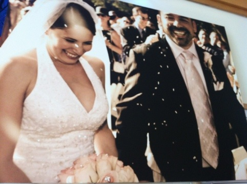 Our wedding photo on canvas