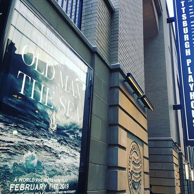 Last night was the opening of our first show!! Hope #oldmanandthesea has an amazing run at the Gorgeous new Pittsburgh Playhouse - now back to NYC! 🛫 🌊 🛬 🗽 @rws_nyc @pghplayhouse #theatre #hemmingway #pittsburgh #development #worldpremiere