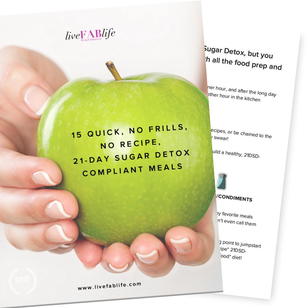 15 Quick, No Frills, No Recipe, 21-Day Sugar Detox Compliant Meals