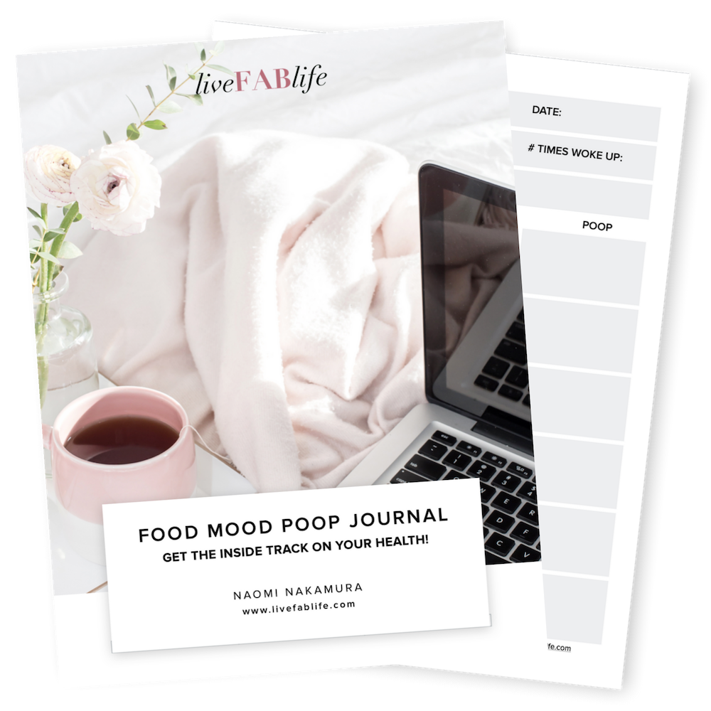 Food Mood Poop Journal, Live FAB Life