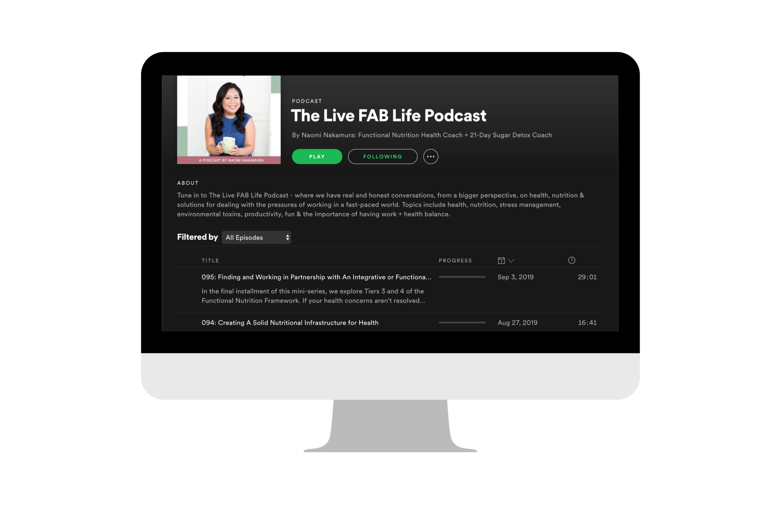 Step 2: - Subscribe to my weekly show, The Live FAB Life Podcast - new episodes every Tuesday!Found on Apple Podcasts, Google Play, Spotify, Stitcher and Tune In!
