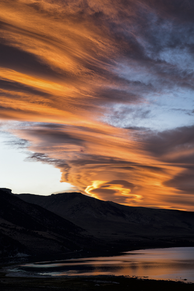 Lenticular Cloud Formation over Mono Lake