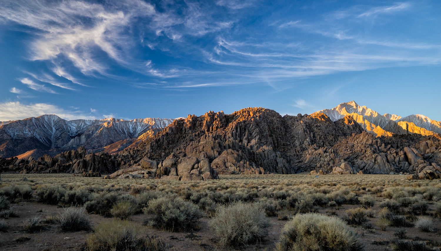 Sunrise Alabama Hills, Lone Pine, California