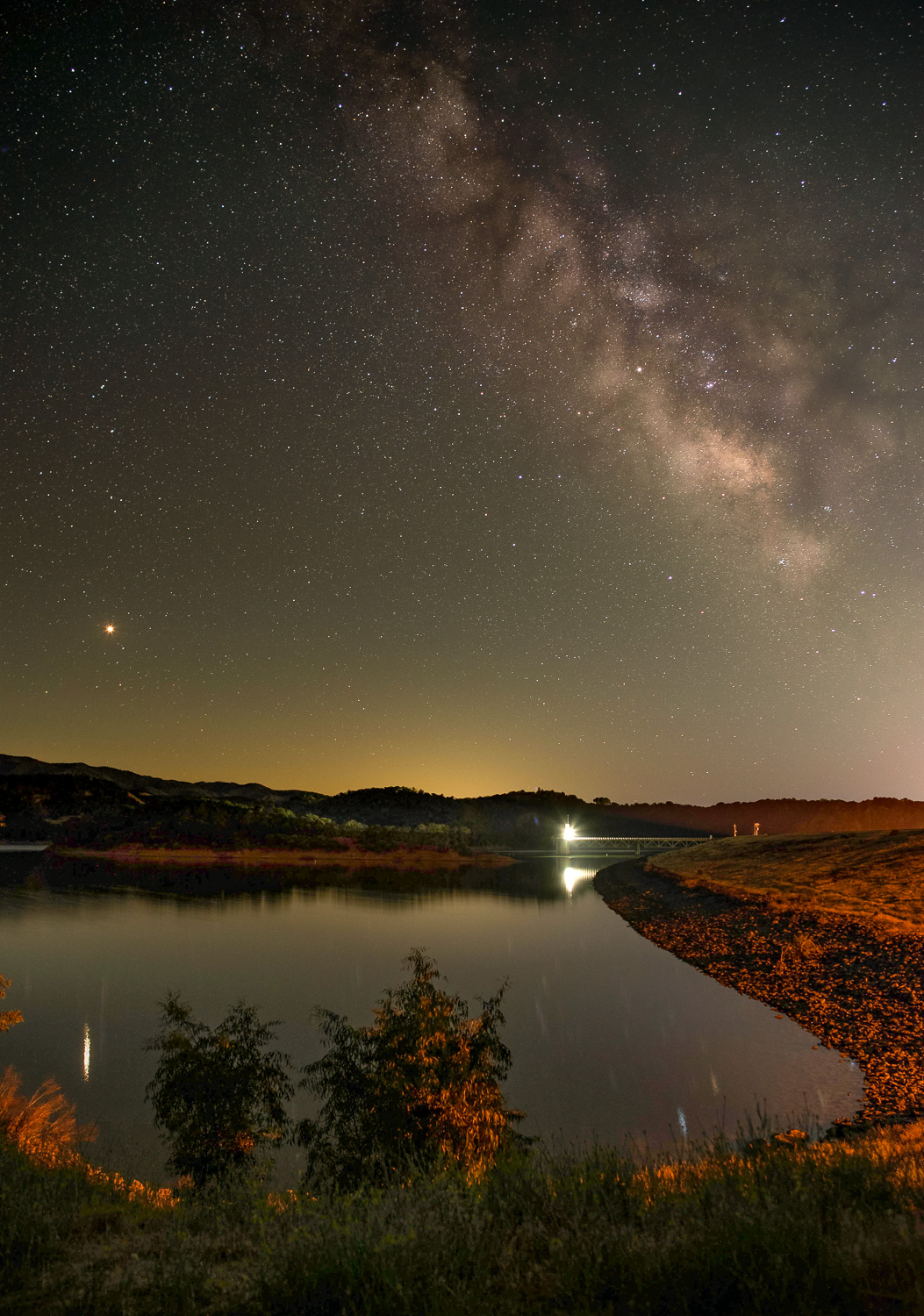 Milky Way Lake Mendocino, Mendocino County, California