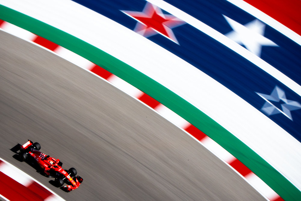 F1 — United States Grand Prix - Kimi Räikkönen put on a show at Circuit of the Americas to win for the first time in 113 races (2044 days). Red Bull's Max Verstappen and Mercedes' Lewis Hamilton rounded out the podium, respectively.