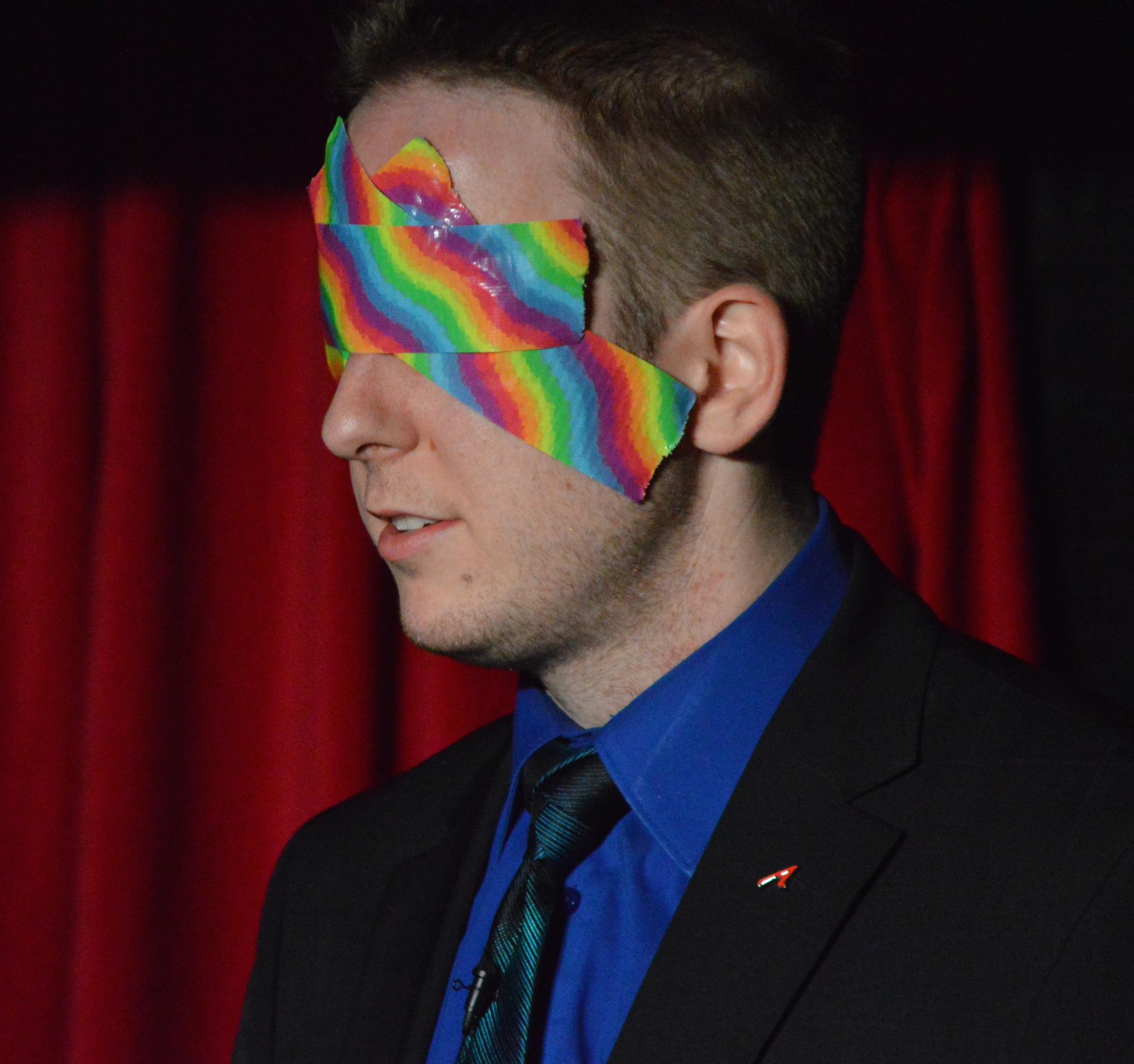 James Alan performing during Pride 2014