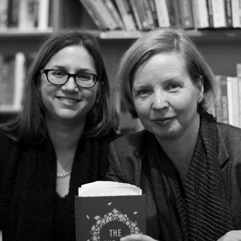 Jenny Erpenbeck (r) and her translator, Susan Bernofsky