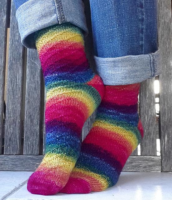 Swirl E. Rainbow Socks by PrairieGirlDanie