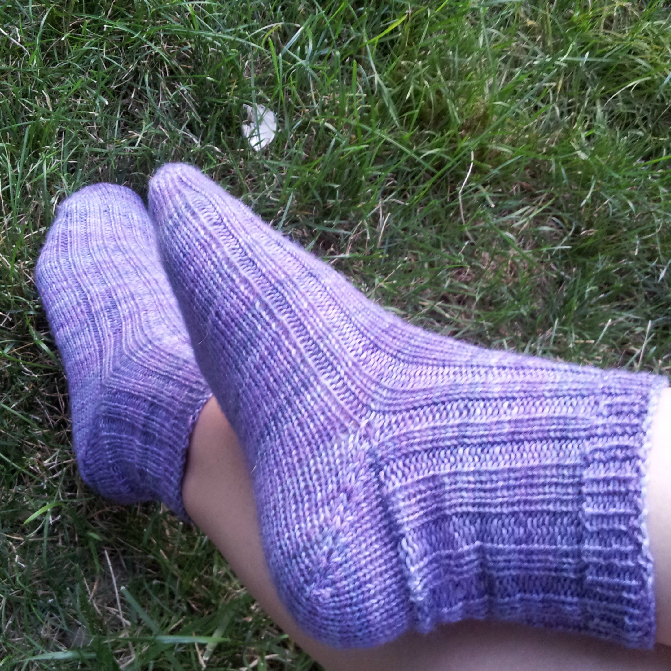 The start of my sock journey started with a pair of purple socks.