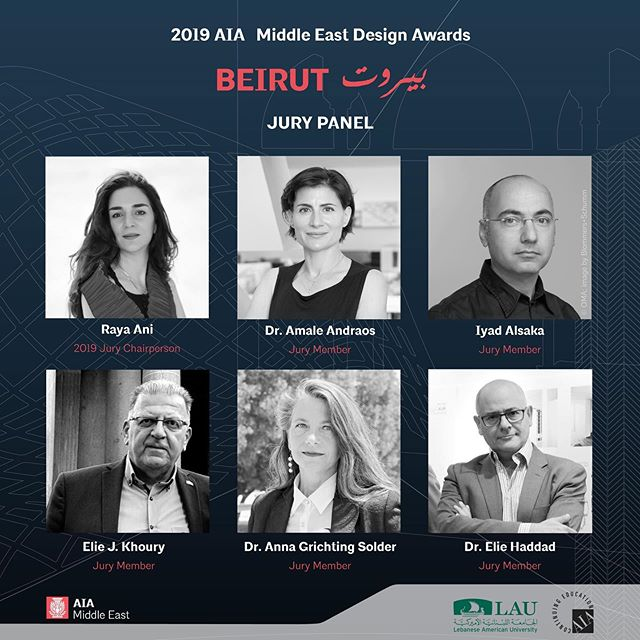 2019 AIA Middle East Design Awards Beirut بيروت  Submit your designs & projects on: www.aiamiddleeast.org/designawards  Meet our 2019 Design Awards jury:  Chaired by Raya Ani, FAIA, LEED AP (Founder RAW-NYC & 2017 AIA ME President)  Dr. Amale Andraos (Dean of Columbia University, School of Architecture)  Iyad Alsaka (Partner at OMA - Office of Metropolitan Architecture)  Elie J. Khoury (President of the Architects Consultants Branch at the Order of Engineers & Architects, Beirut)  Dr. Anna Grichting Solder, AIA (Doctor of Design DDes, Harvard University '08; D.E.S. Urbanism - Arch. University of Geneva)  Dr. Elie Haddad (Dean of School of Architecture & Design, LAU)  The AIA Middle East Chapter's annual design awards program recognizes excellence in architecture, interior architecture, urban design and unbuilt projects undertaken by our Chapter's members.  Because such recognition not only benefits the architects honored, but also benefits all architects, AIA Middle East strives to optimize the public's awareness and appreciation for the Awards Program through appropriate public relations efforts.  The AIA Middle East Awards Program is a function solely of AIA Middle East and appreciation in the program is limited to its current members  Any and all questions related to the awards submission should be directed to: awards@aiamiddleeast.org  The deadline for receipt of the entry form and payment is October 20, 2019 before 11:59 PM Gulf Standard Time  The deadline for receipt of awards submission is October 24, 2019 before 11:59 PM Gulf Standard Time  #architecture #design #designawards #beirut #aiame2019 #aiamiddleeast #construction #building #culture