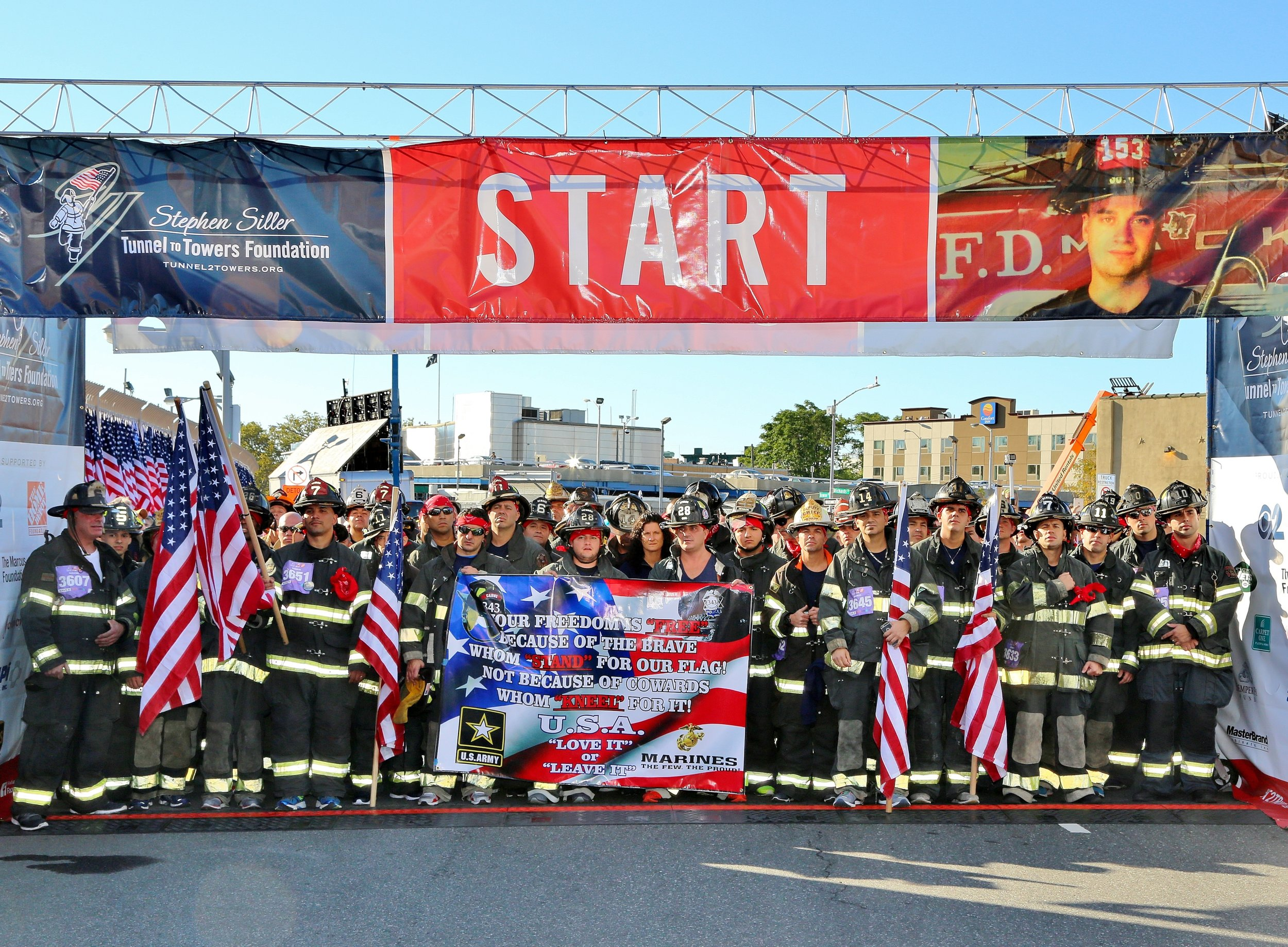 First responders at the start of the race.