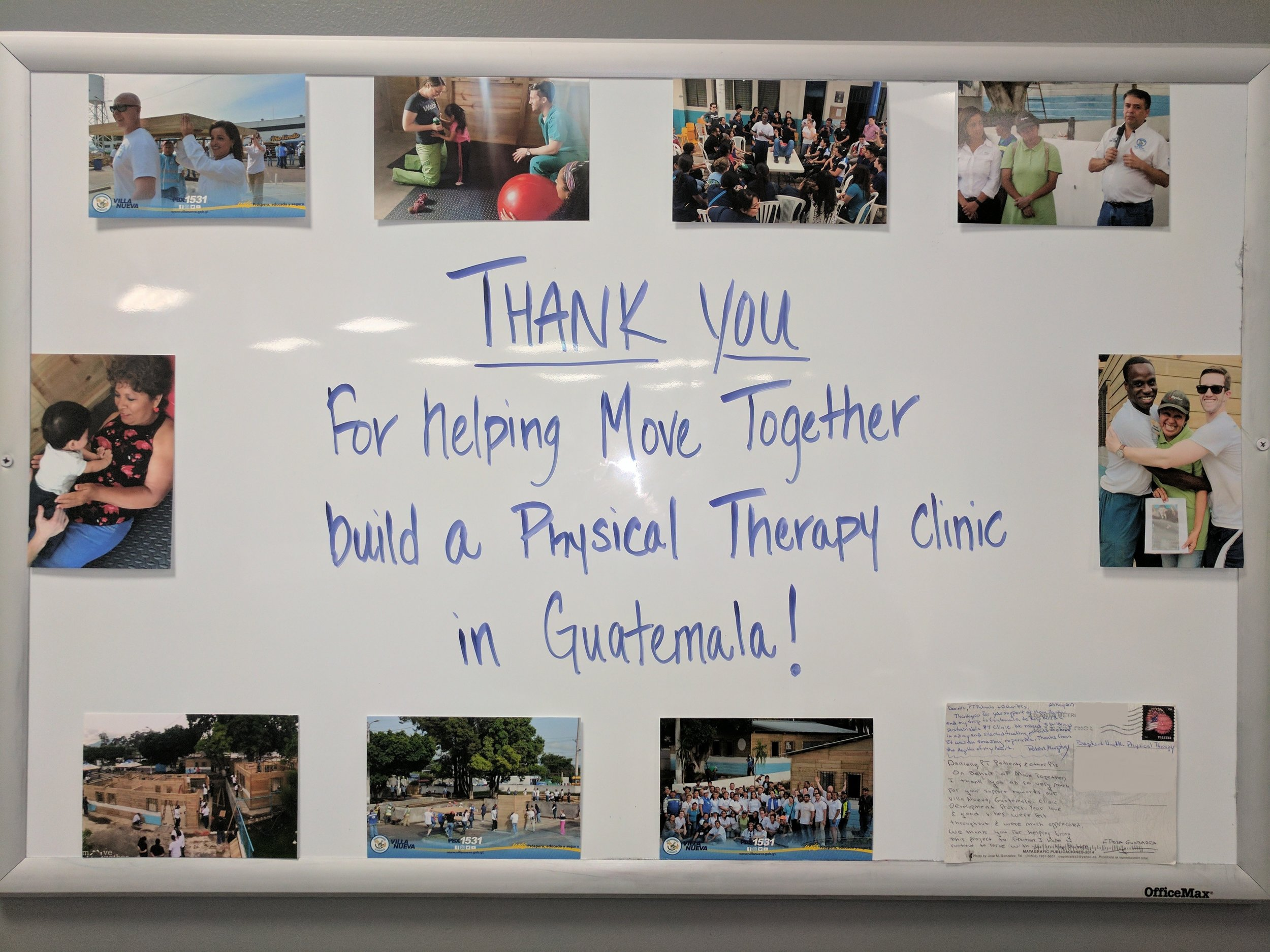 Danielle's clinic, Baptist Health PT, helped to equip the brand new physical therapy clinic in Villa Nueva, Guatemala!