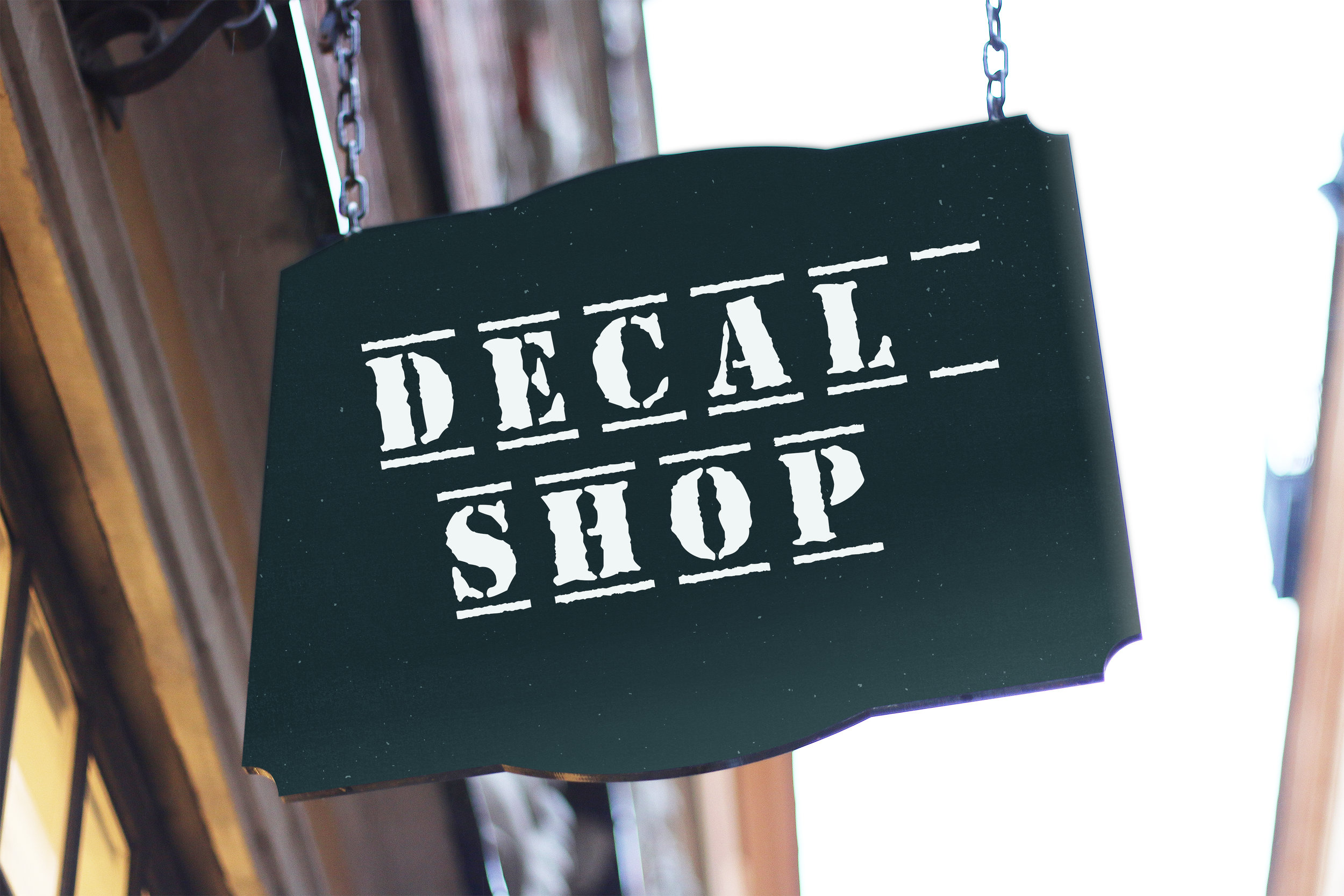 Decal shop - Vinyl decals for auto windows or any other smooth surface.