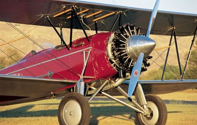 One of the most beautiful restorations hangared at Flabob is a 1928 Stearman C3B owned by Ron Alexander.   (Chad Slattery)