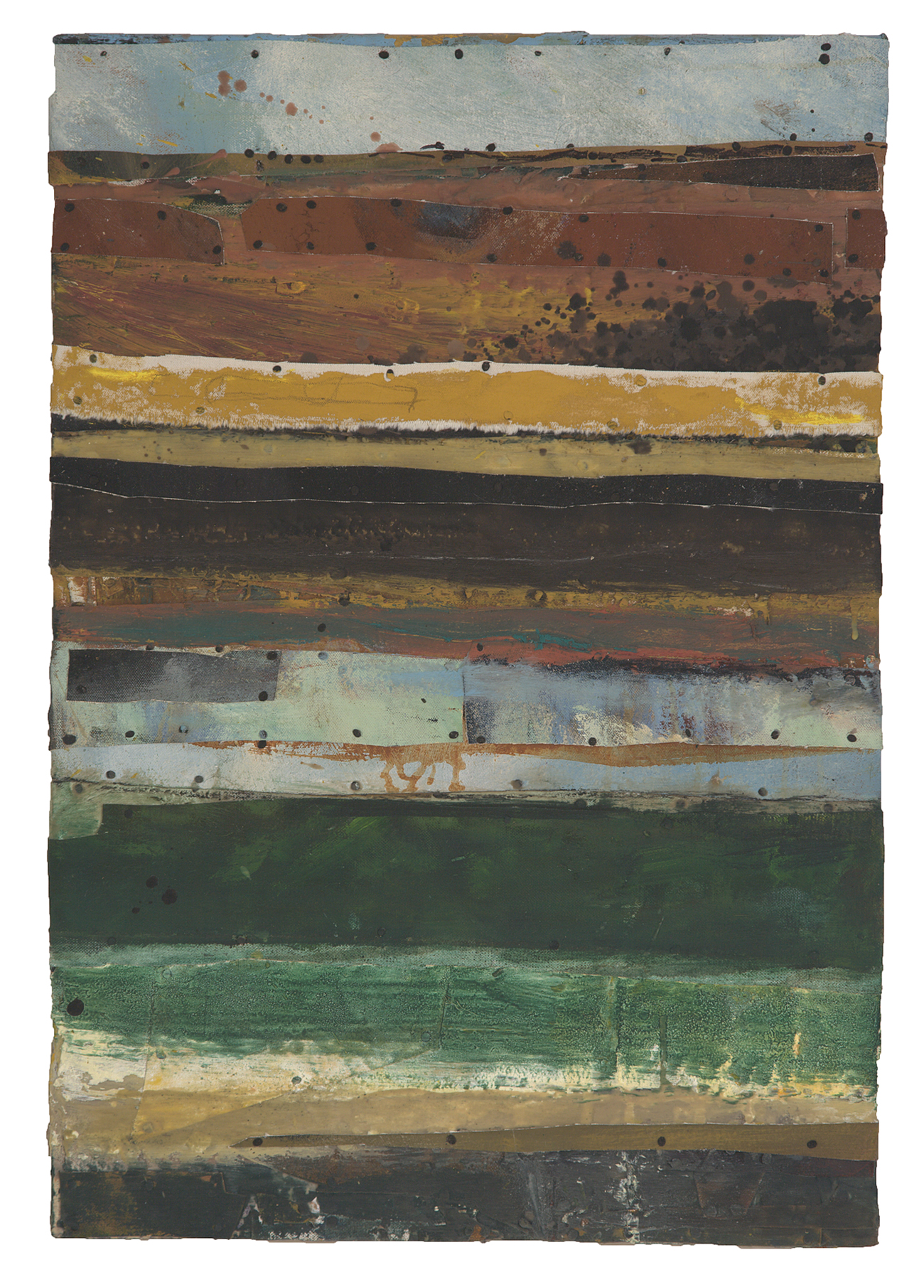 NEW BEGINNINGS, 2008  Encaustics and mixed media on panel  25 1/4 x 17 1/2 inches
