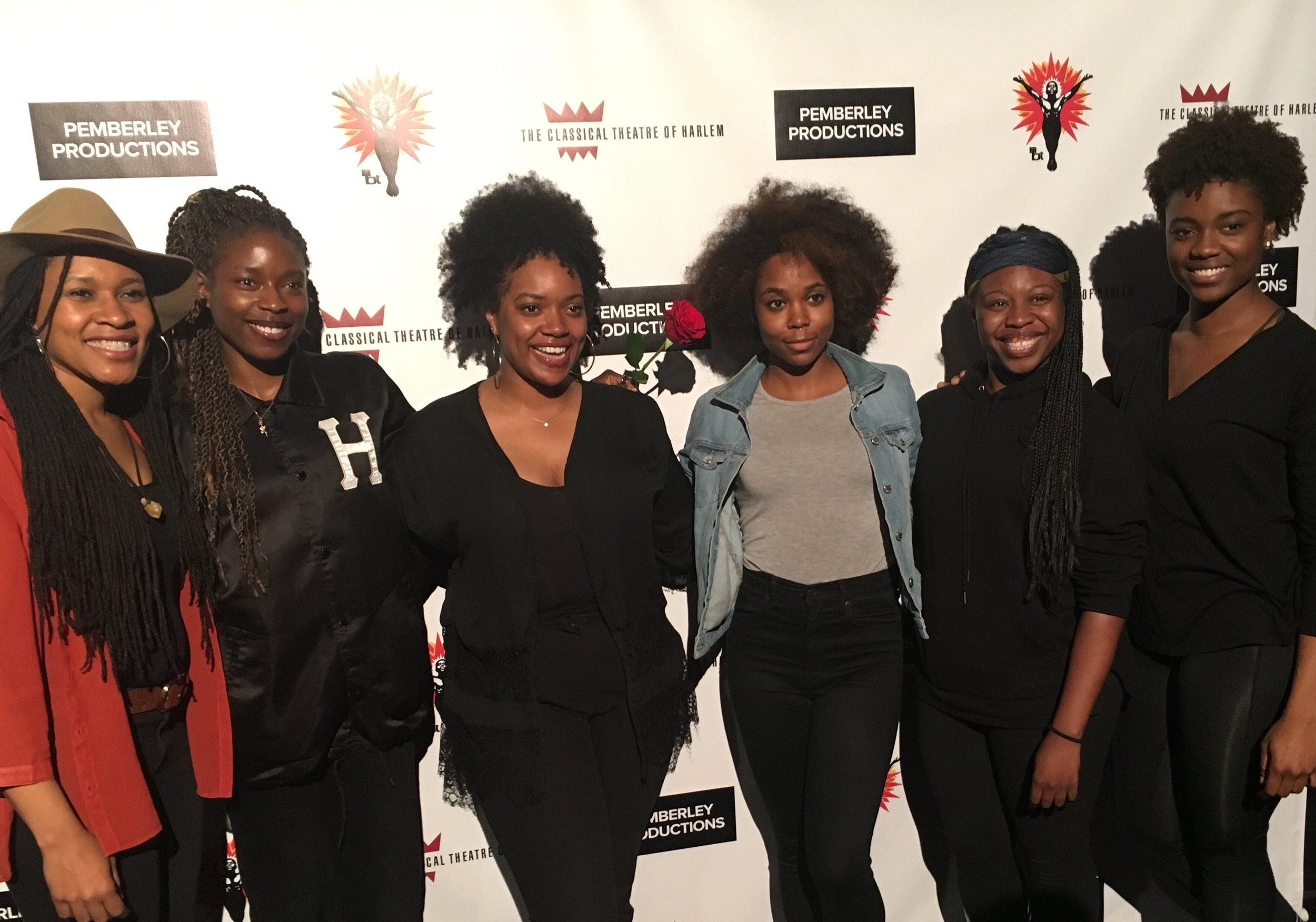 From L to R: Tia James (dir), Olamide Candide-Johnson, Sydney Elisabeth, Naomi Lorrain, Nedra Snipes and Katherine Turner.