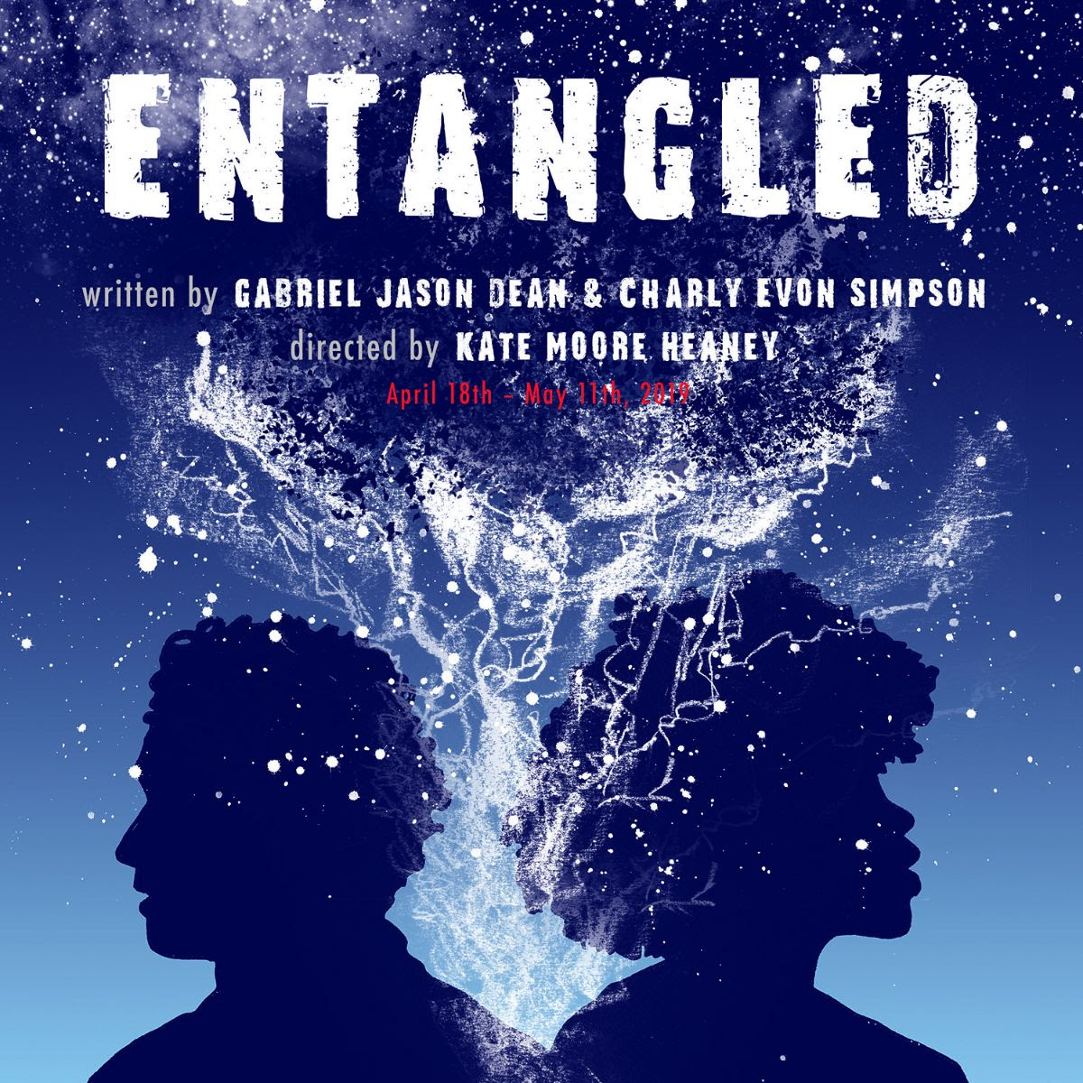ENTANGLED April 18 - May 11 - Written by Charly Evon Simpson & Gabriel Jason Dean @ The Jeffrey and Paula Gural Theatre atA.R.T./New York Theatres 502 West 53rd StreetIn the aftermath of a mass shooting in NYC, the black mother of a victim and the white brother of the shooter try to make sense of what happened, each individually grappling with a soul-shattering experience that few understand. An exploration of loss and survival, ENTANGLED is the story of two strangers connected by tragedy in a nation still struggling to see itself for what it is.The cast...James Kautz & Naomi Lorrain.Click here for tickets!