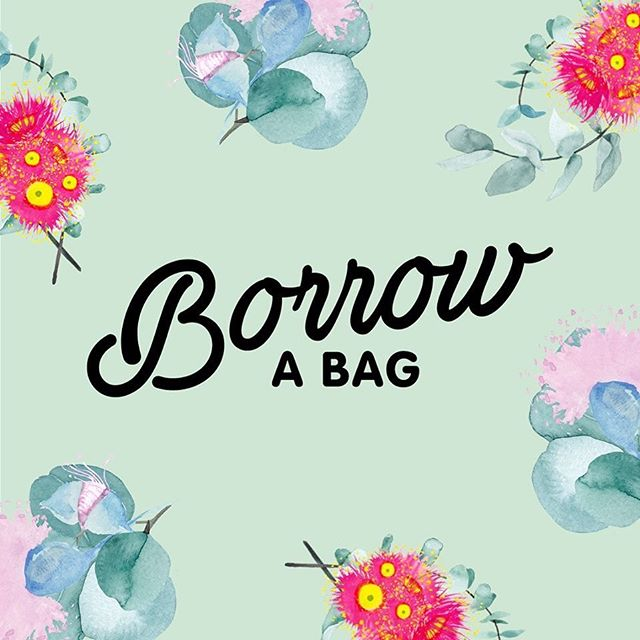 "Super excited to see some more of my gum blossoms popping up and just love that this concept of ""borrowing a bag"" is now in Tamworth @boomerangbags @tamworthsquare"