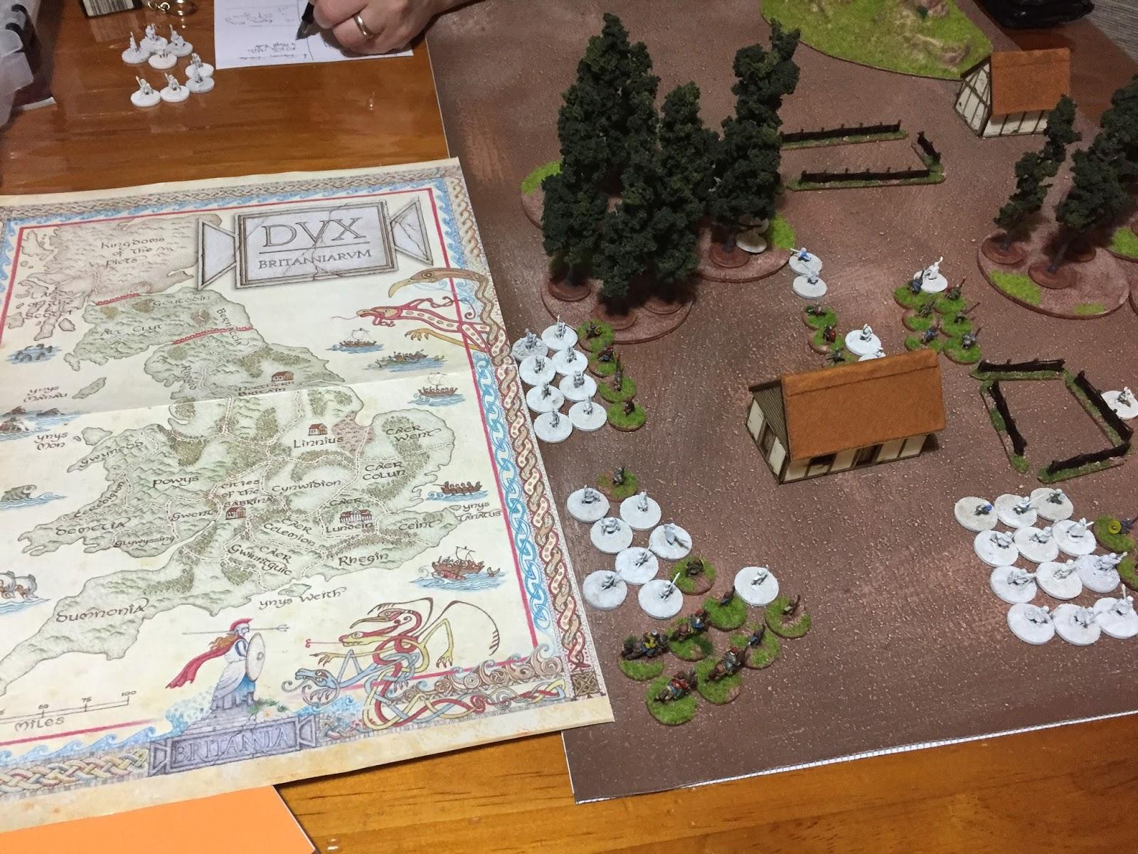 Dux Britanniarum. Giles' Saxons are attempting a cattle raid... badly!