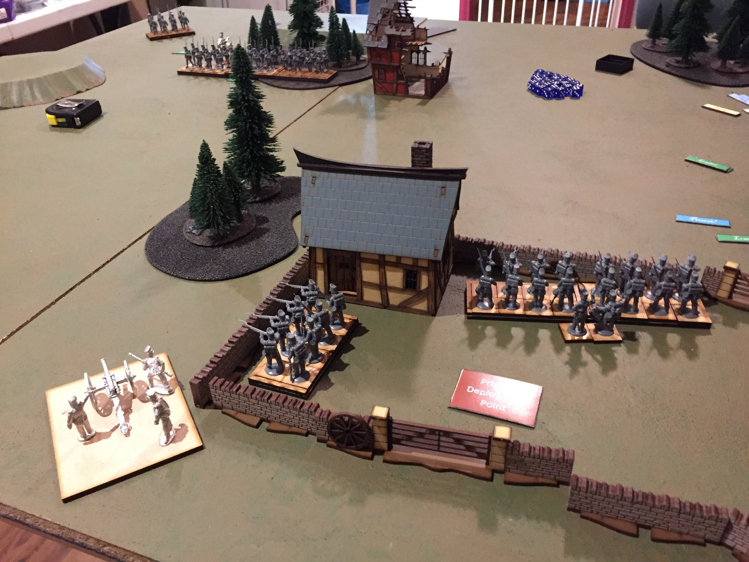 Doughty British, facing the Prussians in Sharp Practice...