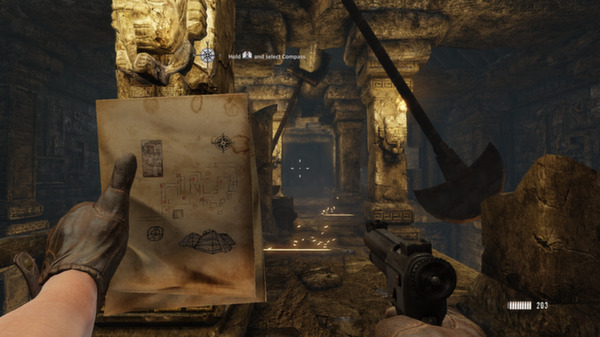 Map, check. Gun, check. Pendulum of death, check.
