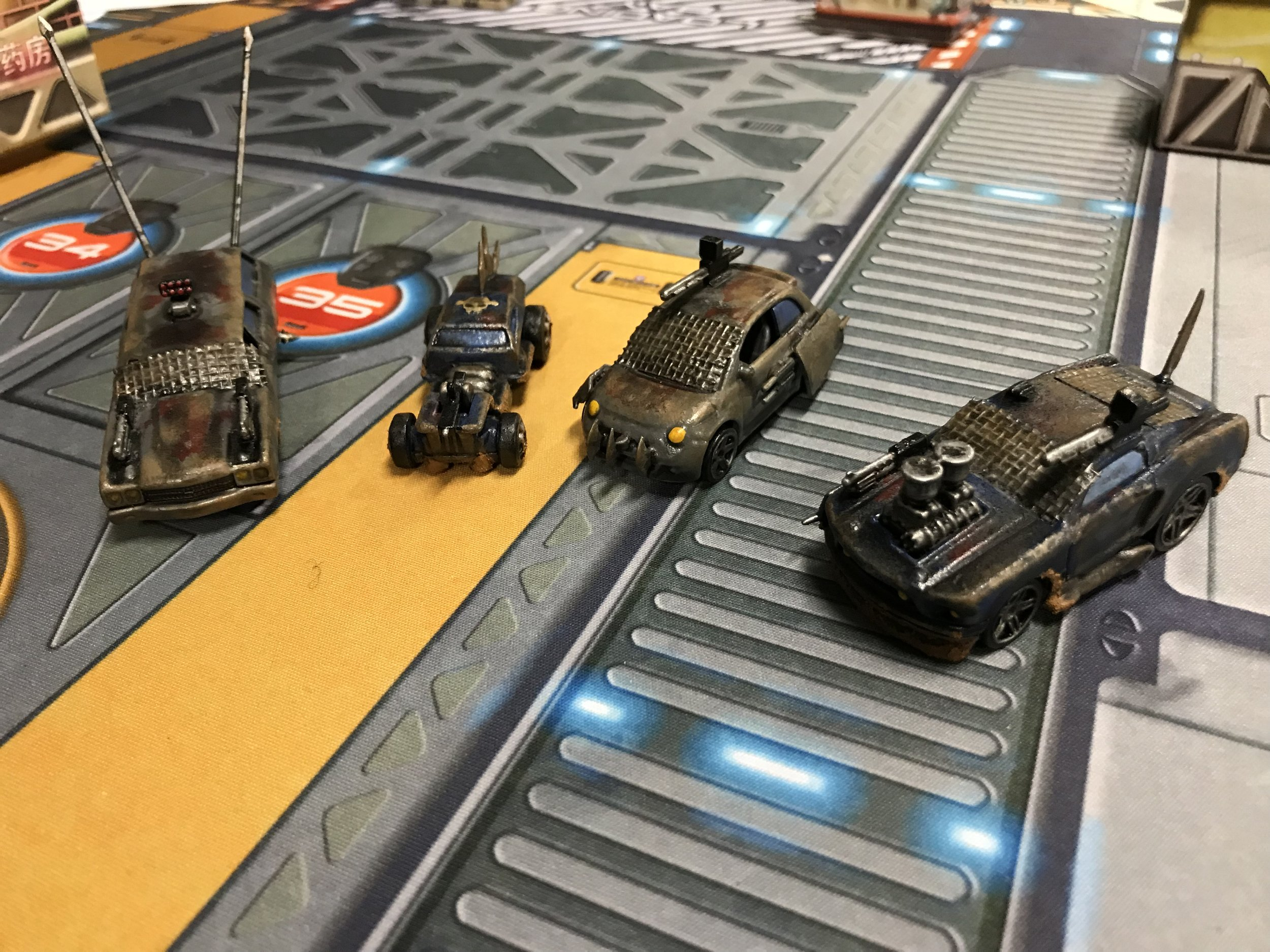 Gaslands - some Hot Wheels cars modified for use...