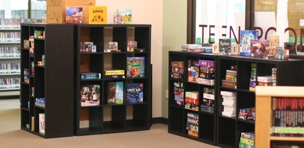 Four of our five new shelves, with room to grow.