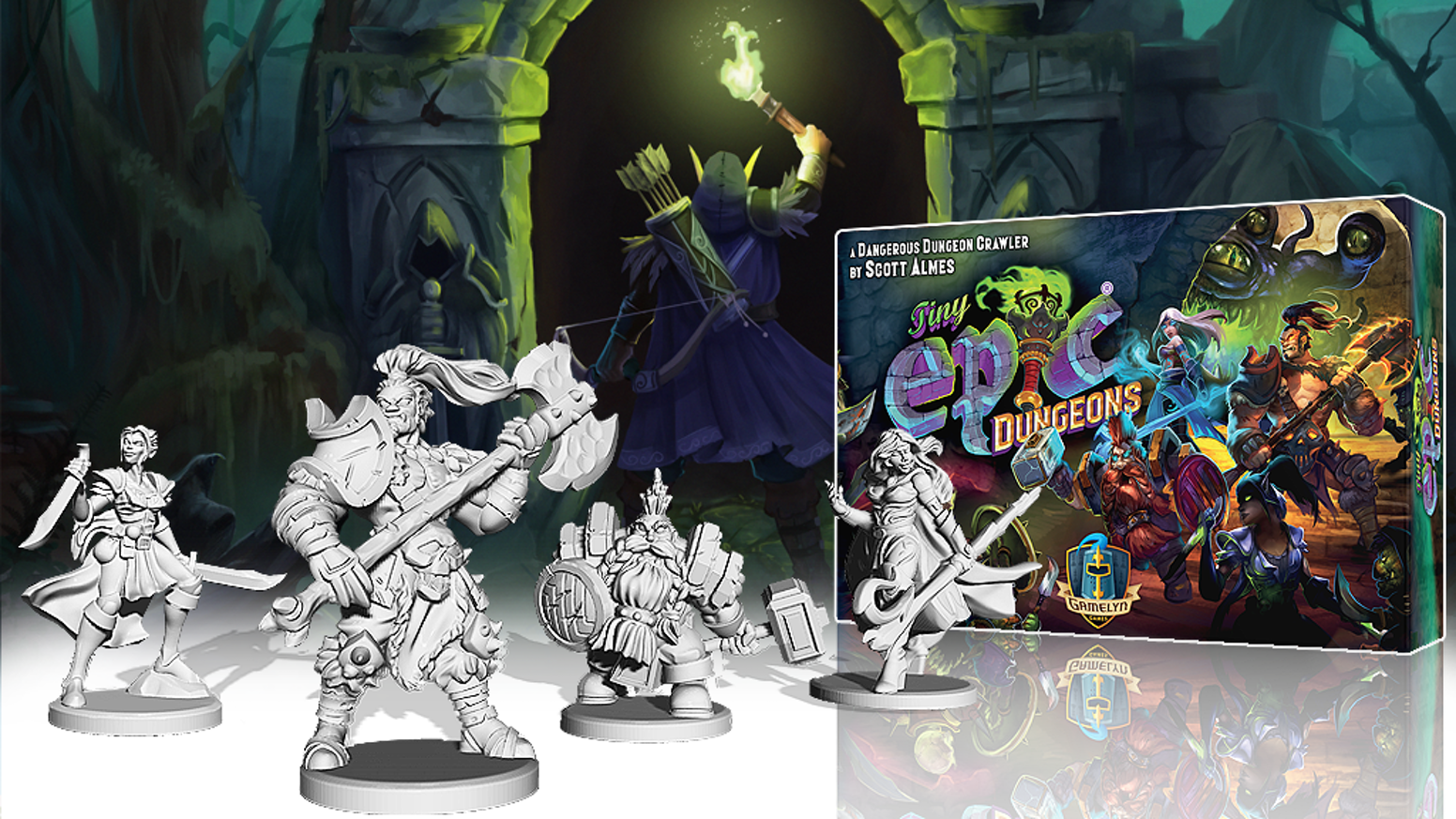 Tiny Epic Dungeons, still available through late pledges.