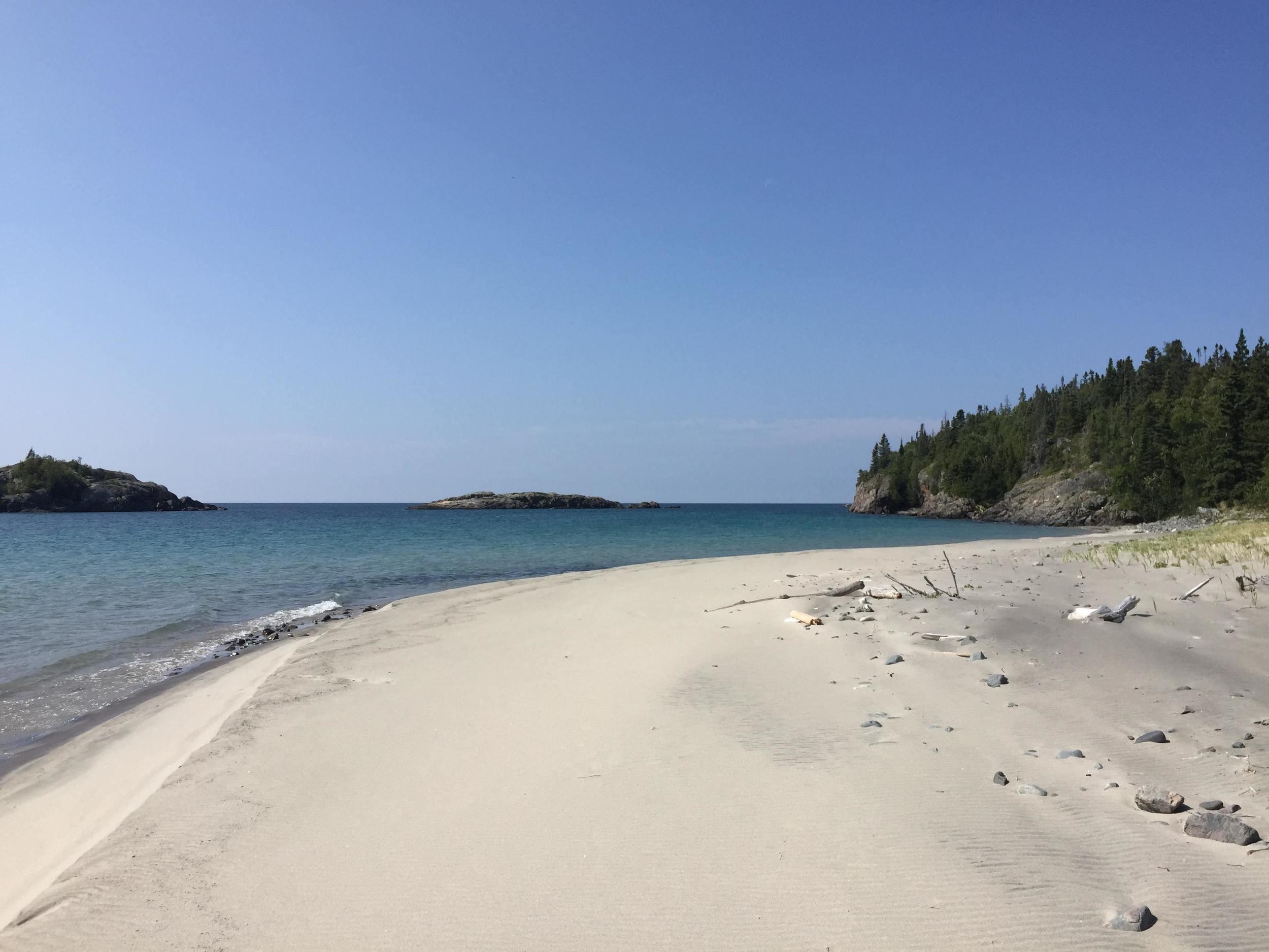 Lake Superior white sand beaches.