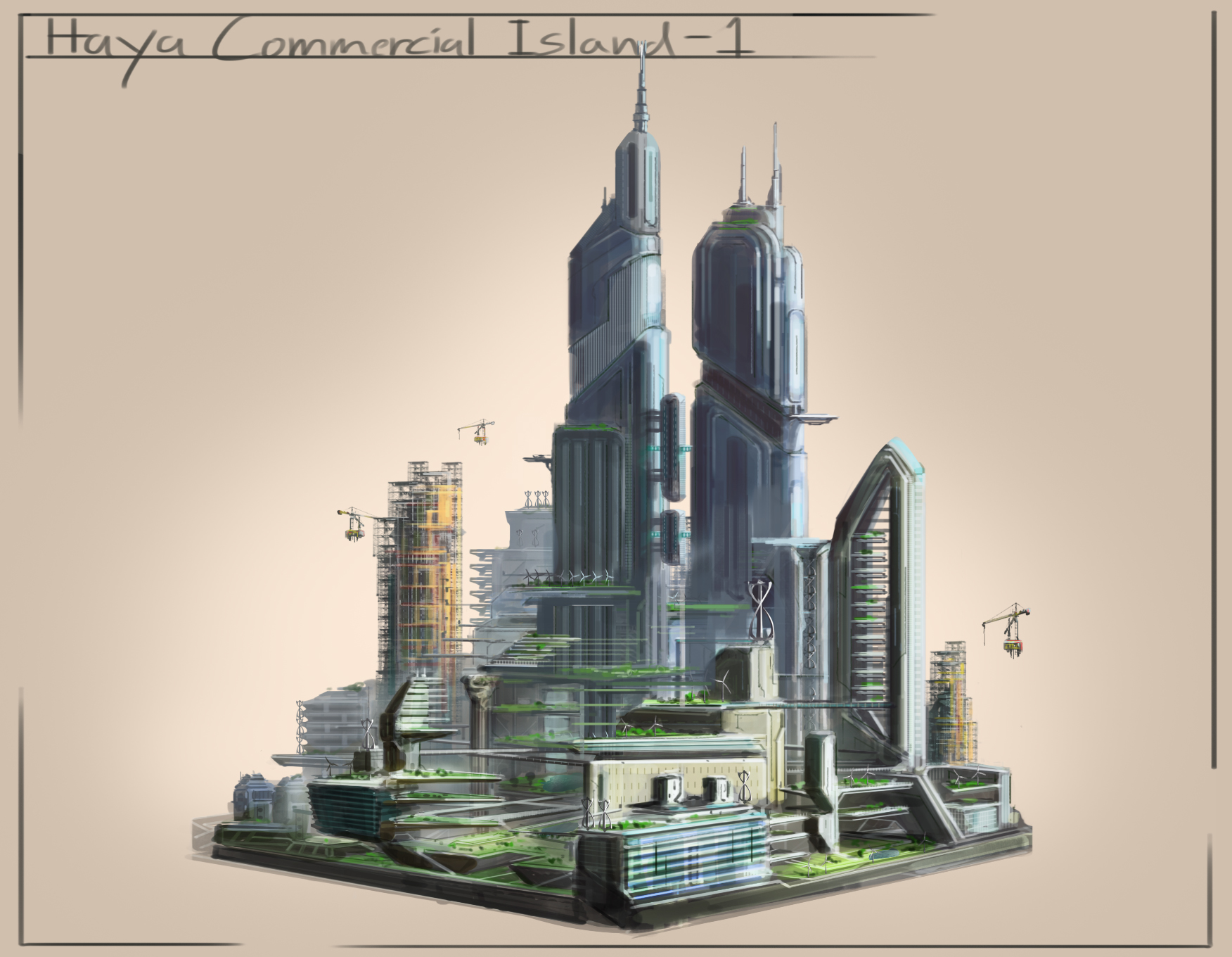 City Sketches - Commerical Island Edit - Towers Moved.jpg