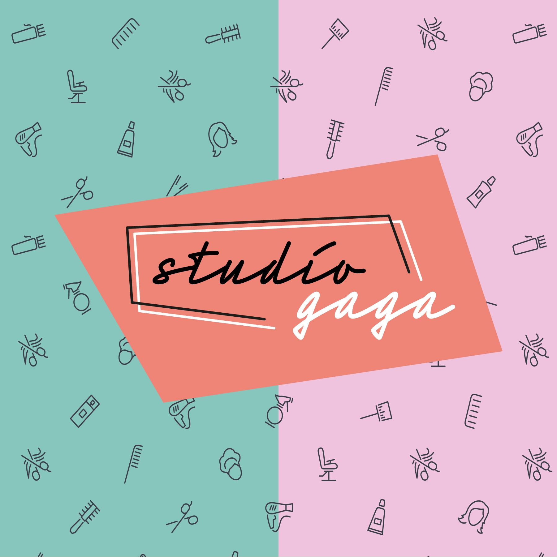 logo en huisstijl voor studio gaga