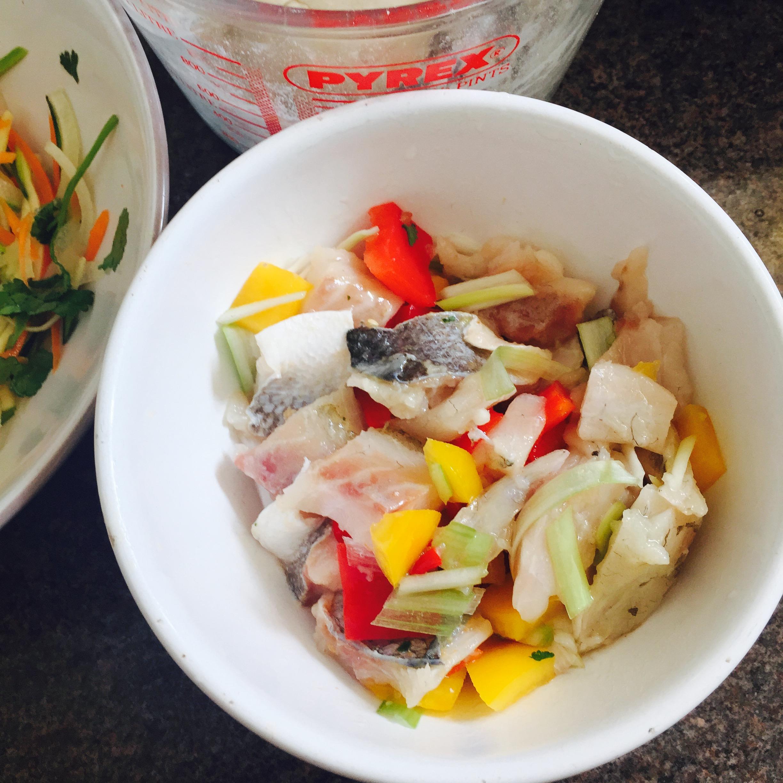 Rachel Walder fish tacos fish mix
