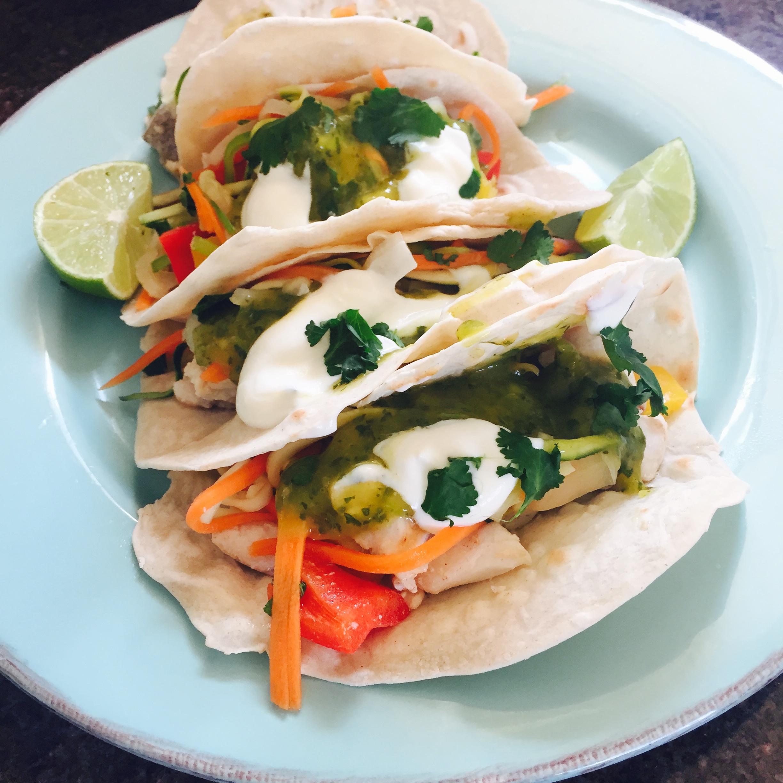 Rachel Walder fish tacos Thai style