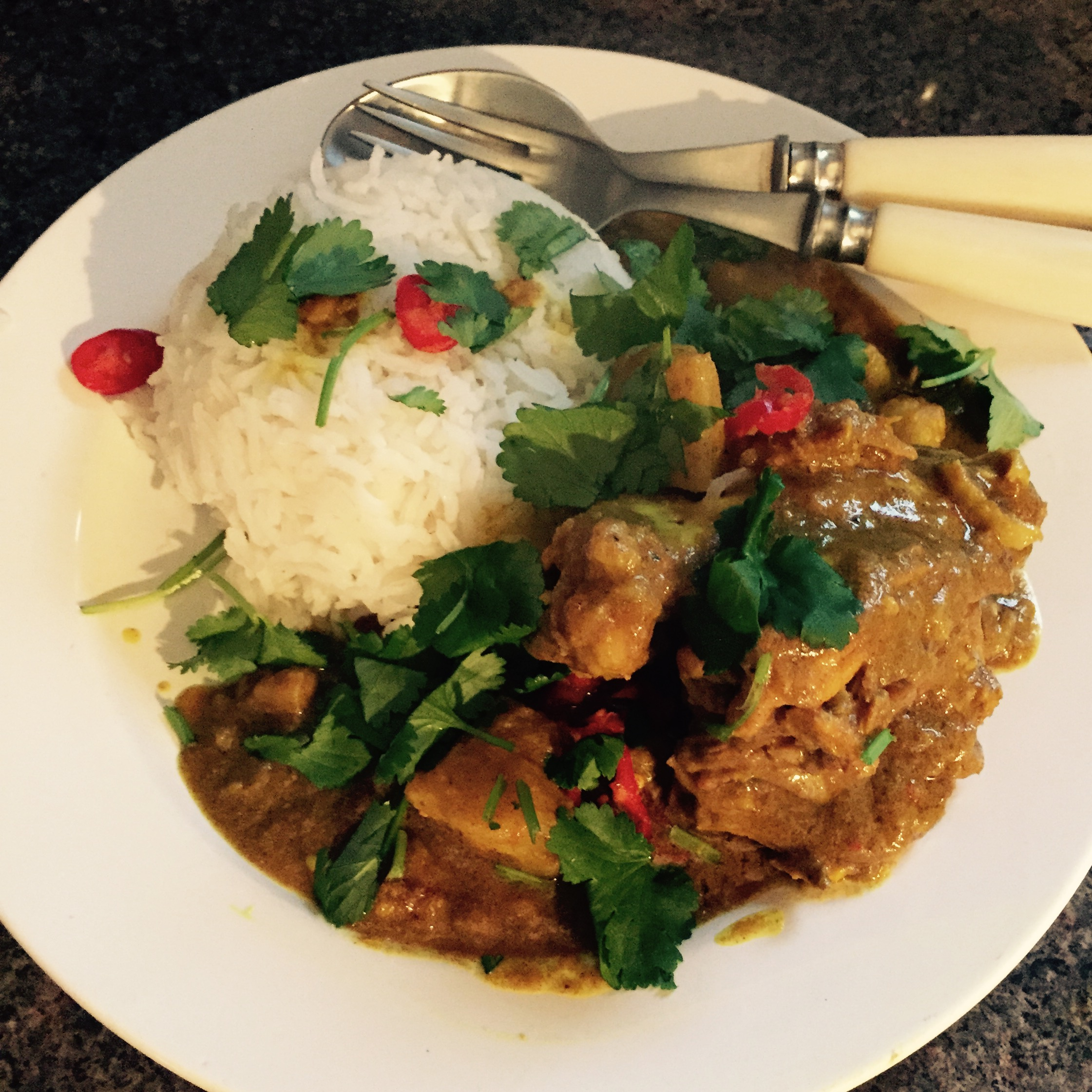 Borneo coconut chicken curry Rachel Walder