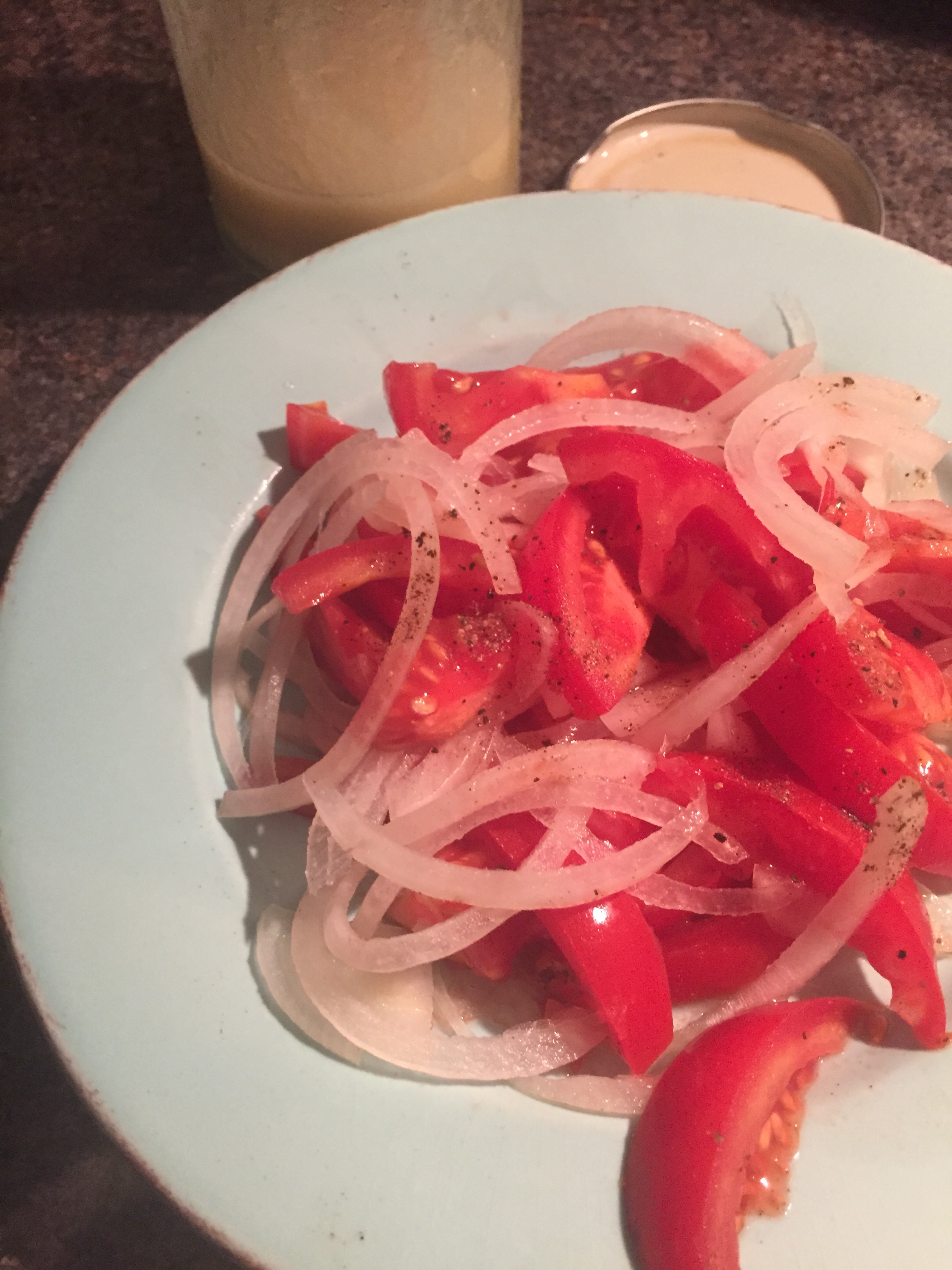 Tomato and onion salad Rachel Walder
