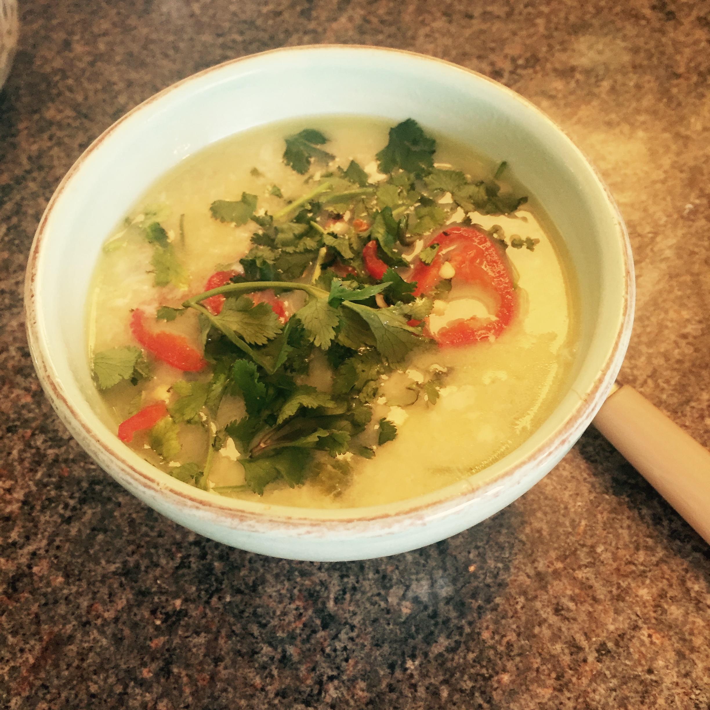 Chicken rice soup Rachel Redalw The Tiniest Thai