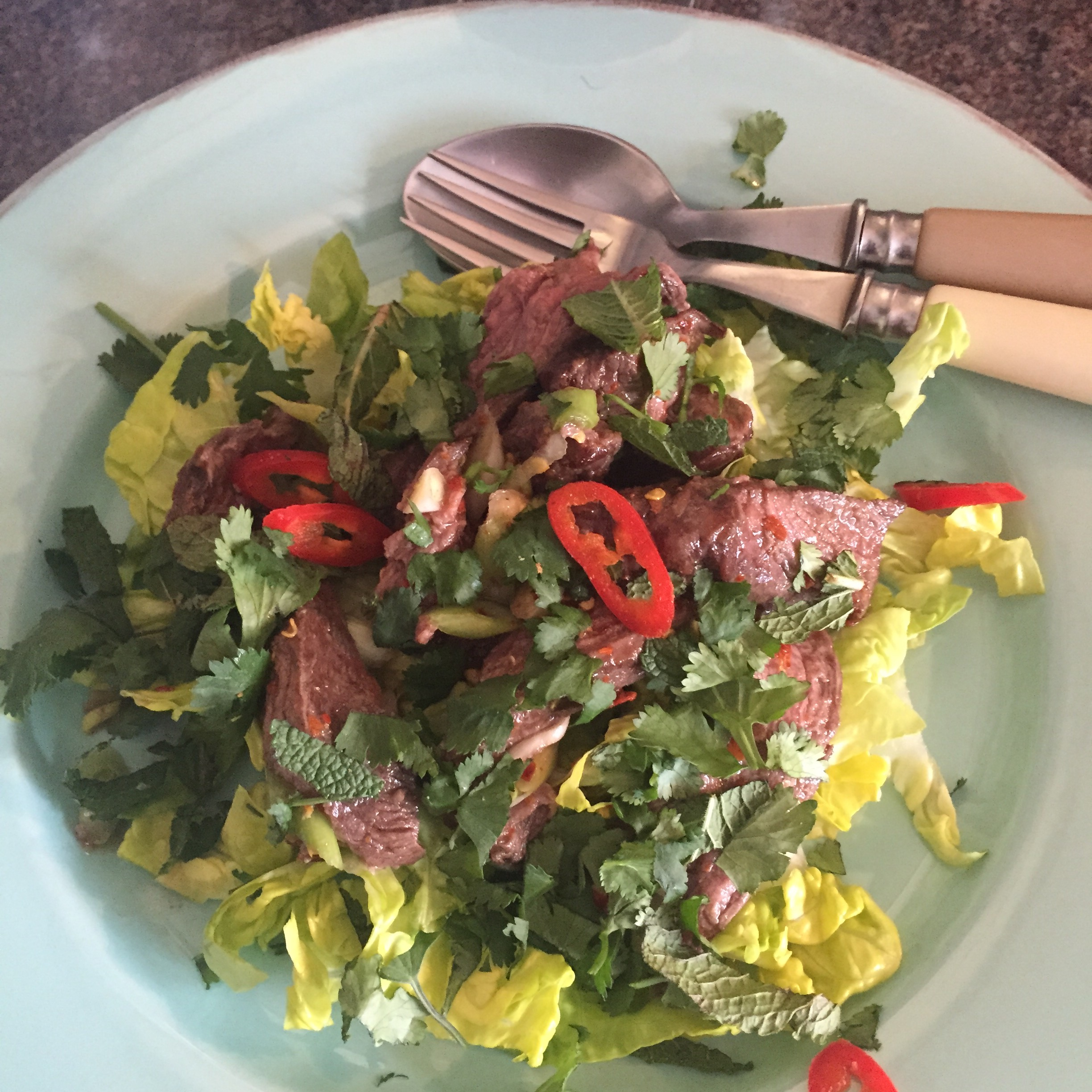 The Tiniest Thai diet Rachel Redlaw steak salad