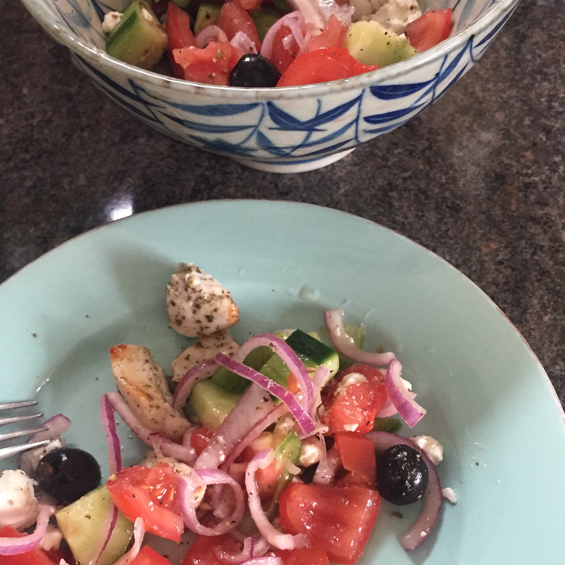 Rachel Redlaw The Tiniest Thai diet souvlaki and Greek salad