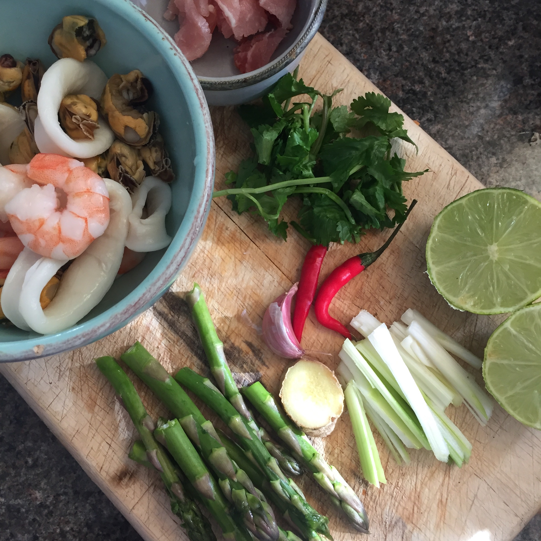 Rachel Redlaw seafood stirfry